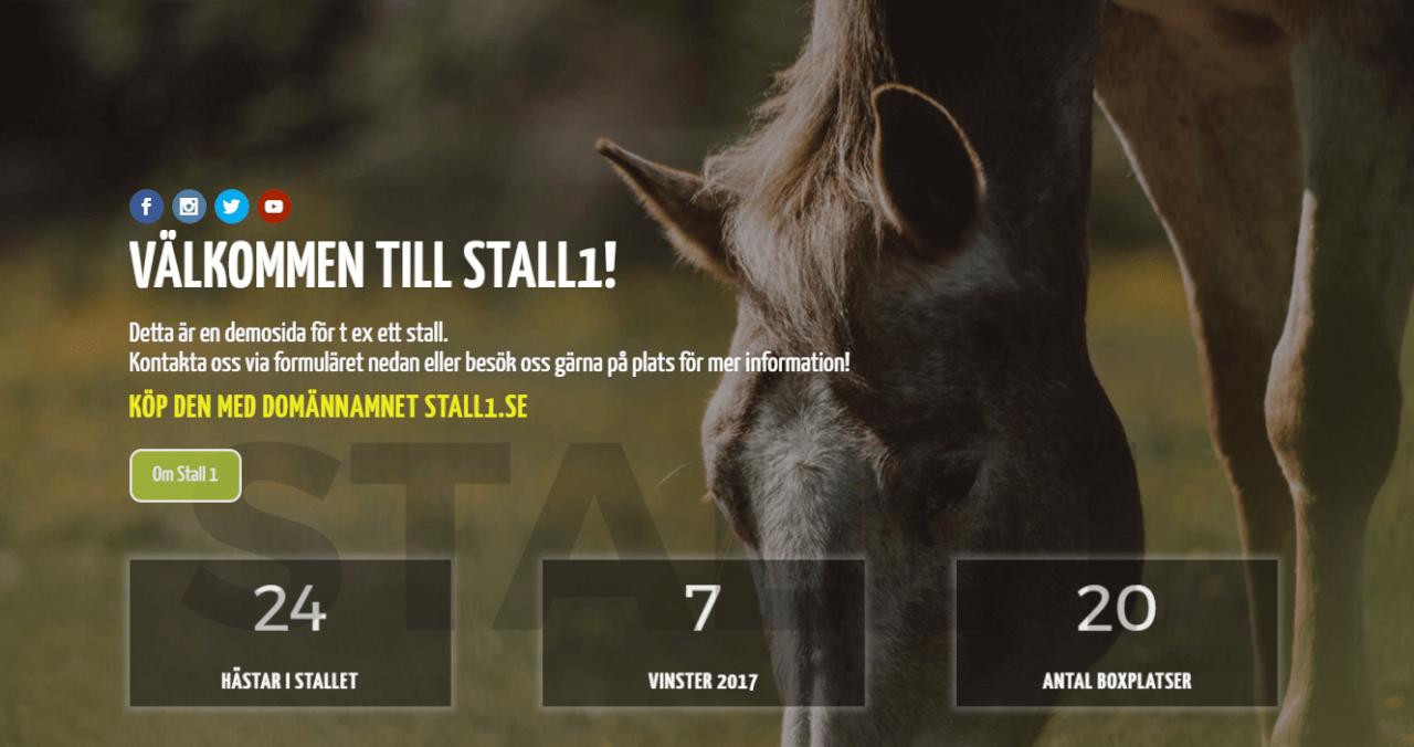 Bild: Stall1.se, till salu
