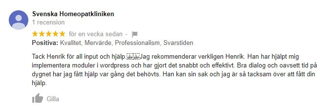 Bild: Kundcase: Svenska Homeopatkliniken
